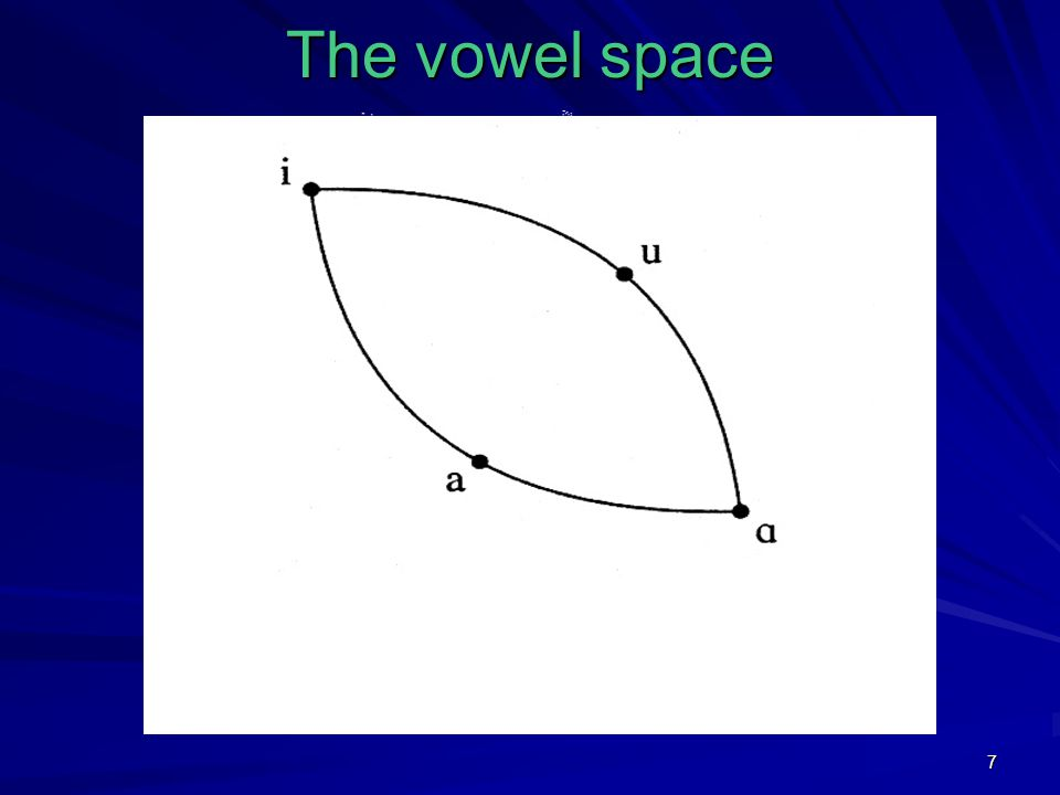 7 The vowel space