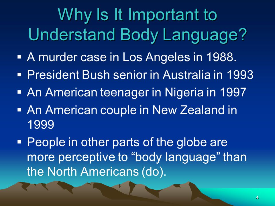 4 Why Is It Important to Understand Body Language.