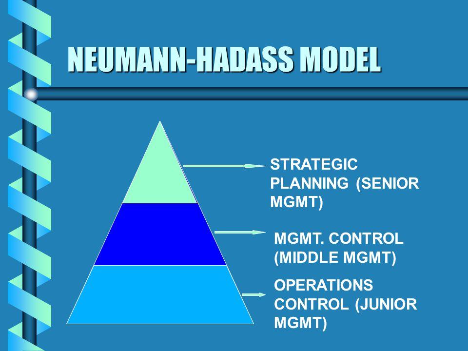 NEUMANN-HADASS MODEL STRATEGIC PLANNING (SENIOR MGMT) MGMT.