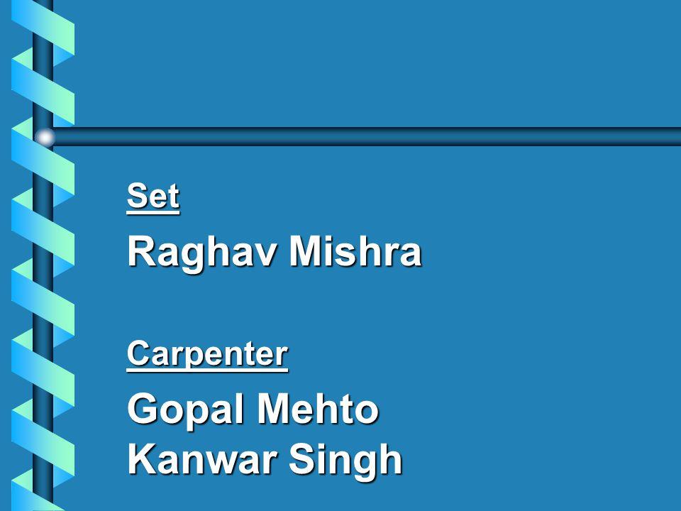 Set Raghav Mishra Carpenter Gopal Mehto Kanwar Singh