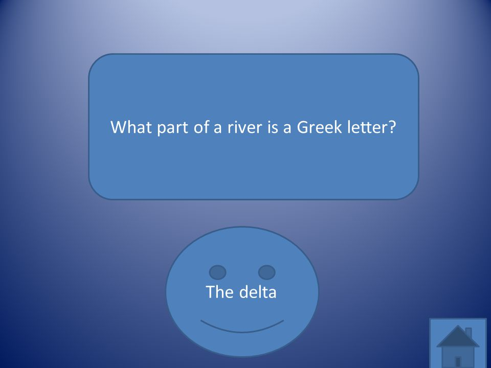 What part of a river is a Greek letter? The delta