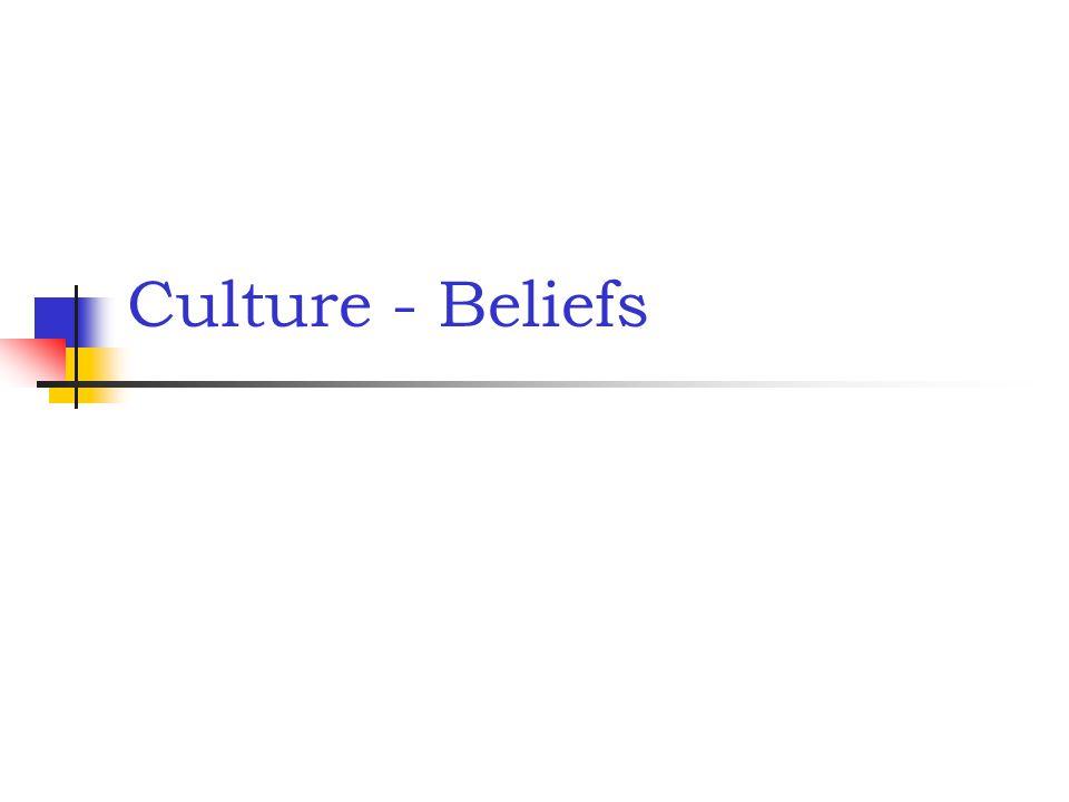 Culture - Beliefs