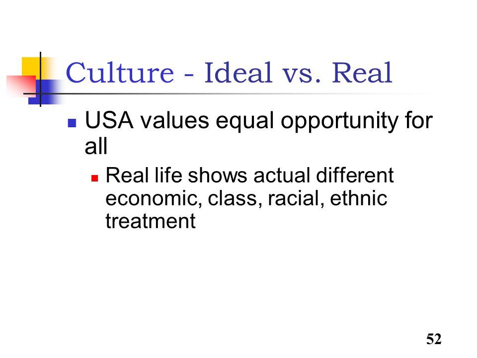 52 Culture - Ideal vs.