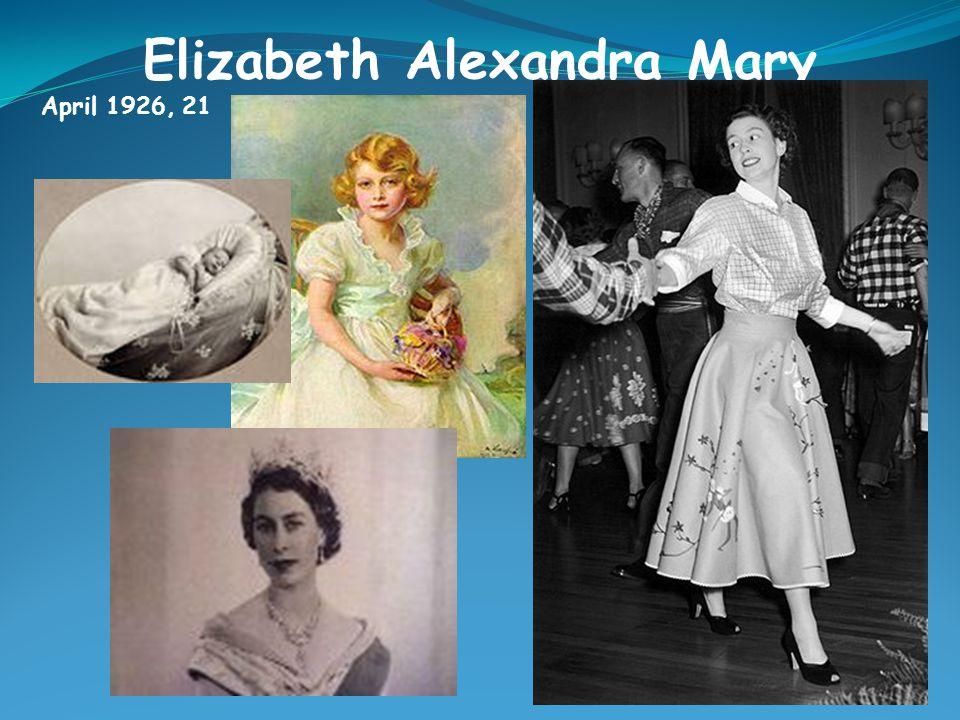 Elizabeth Alexandra Mary April 1926, 21