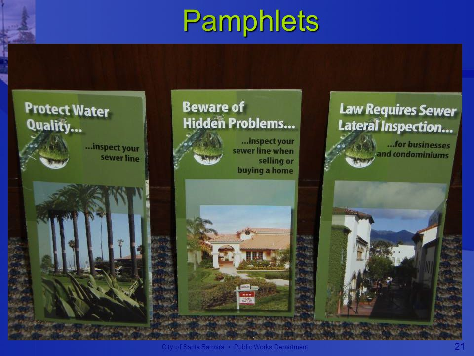 City of Santa Barbara Public Works Department 21 Pamphlets