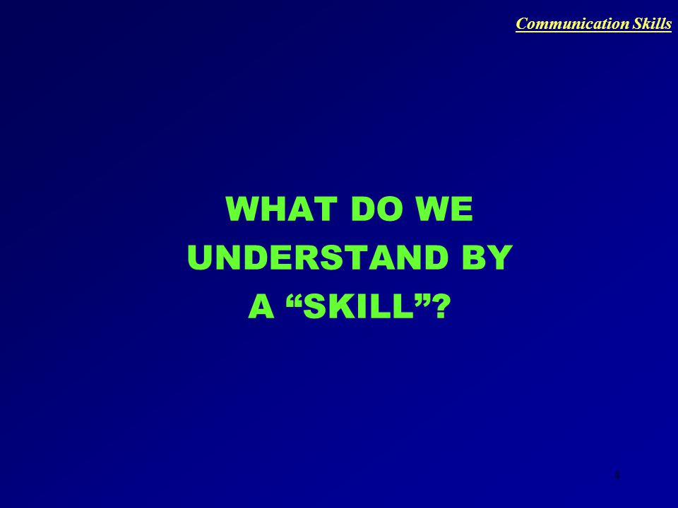 3 LET'S DISCOVER THE POWER OF COMMUNICATION… Communication Skills