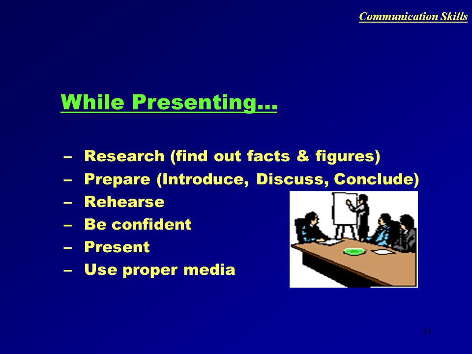40 PRESENTATION SKILLS Communication Skills