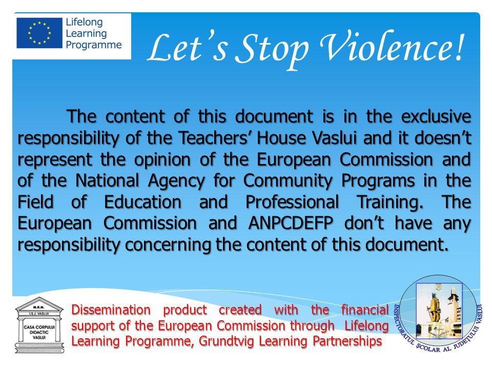 Let's Stop Violence.