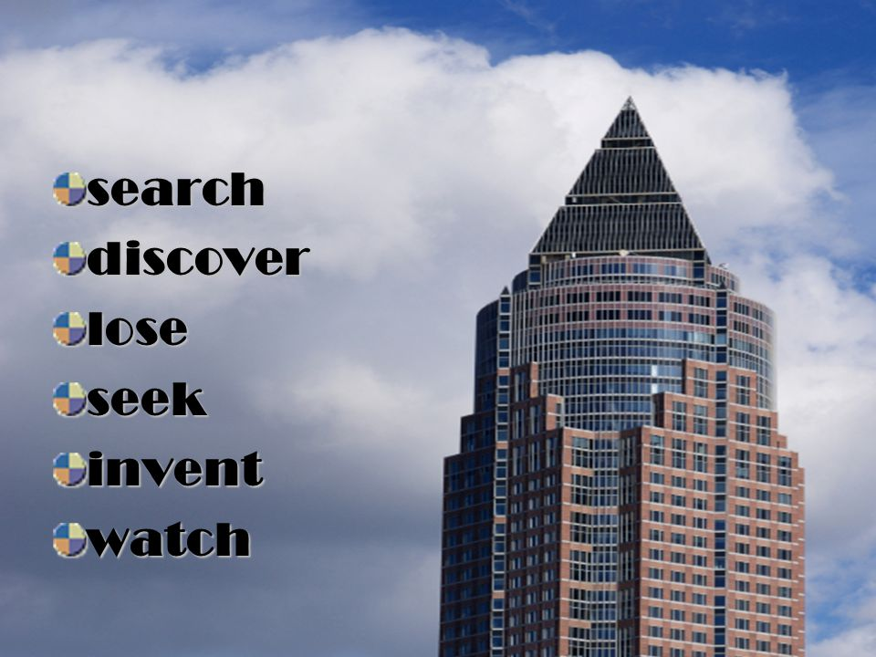 search discover lose seek invent watch