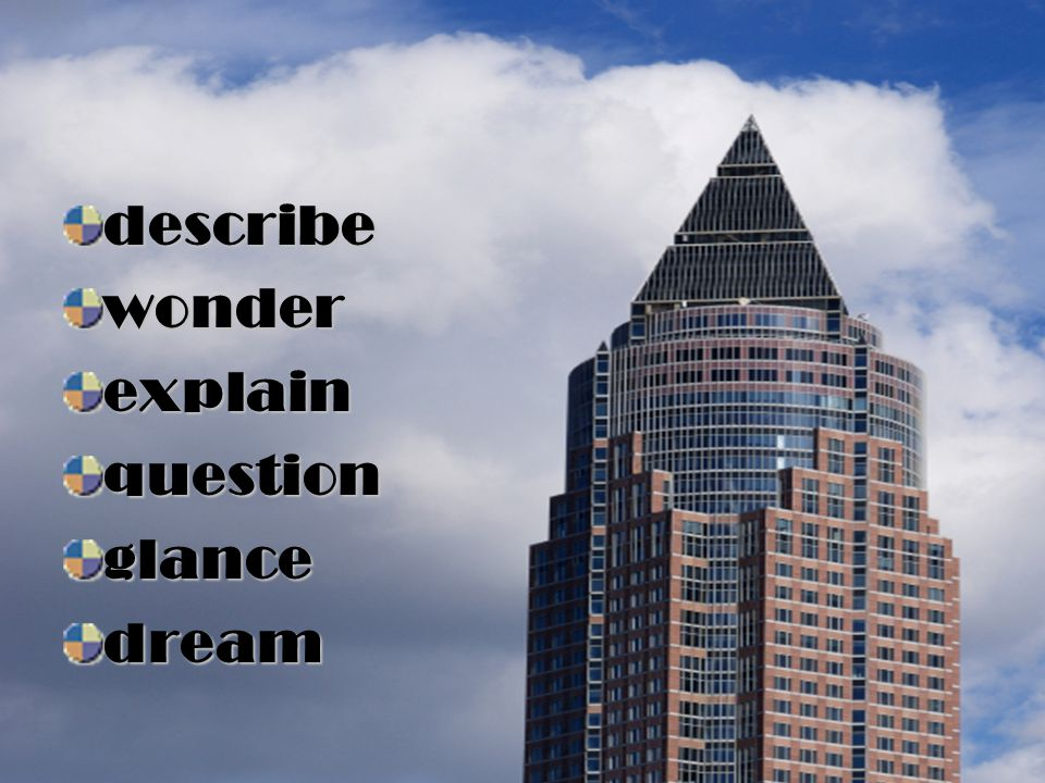 describe wonder explain question glance dream