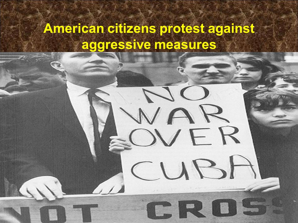 American citizens protest against aggressive measures