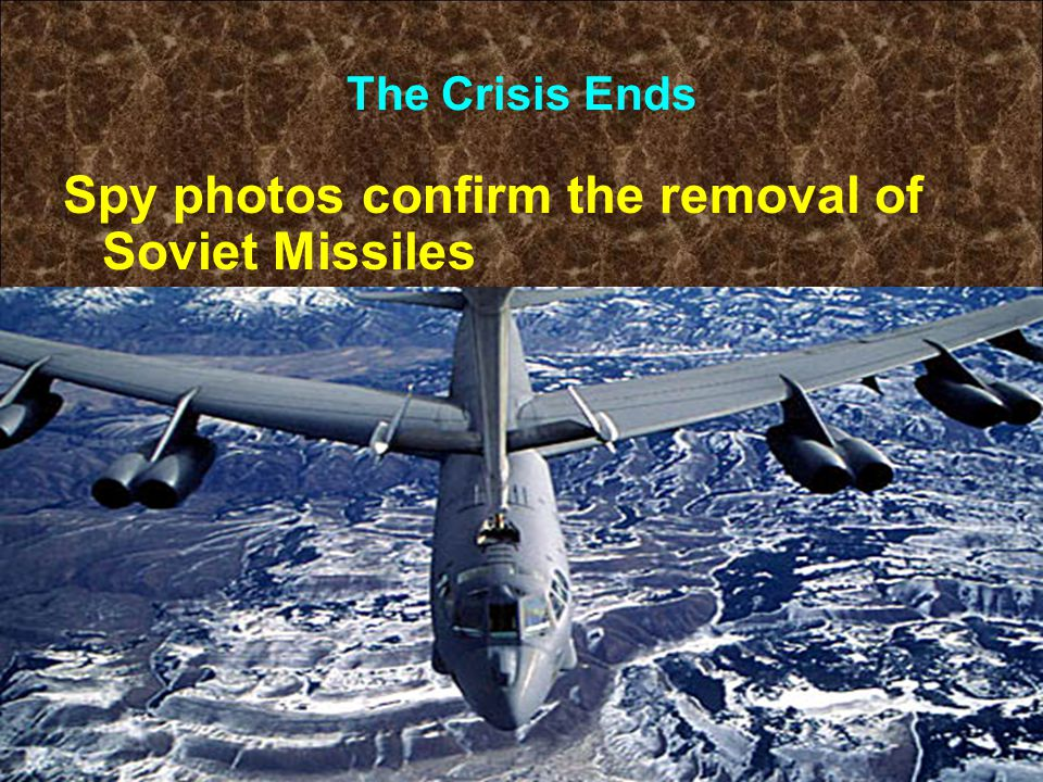 The Crisis Ends Spy photos confirm the removal of Soviet Missiles