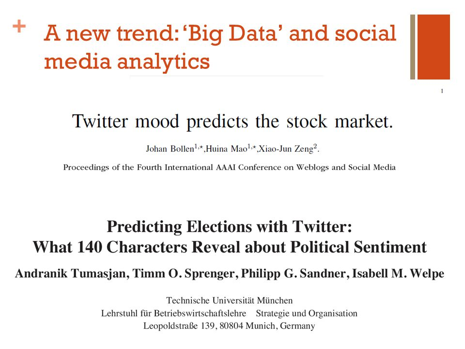 + A new trend: 'Big Data' and social media analytics