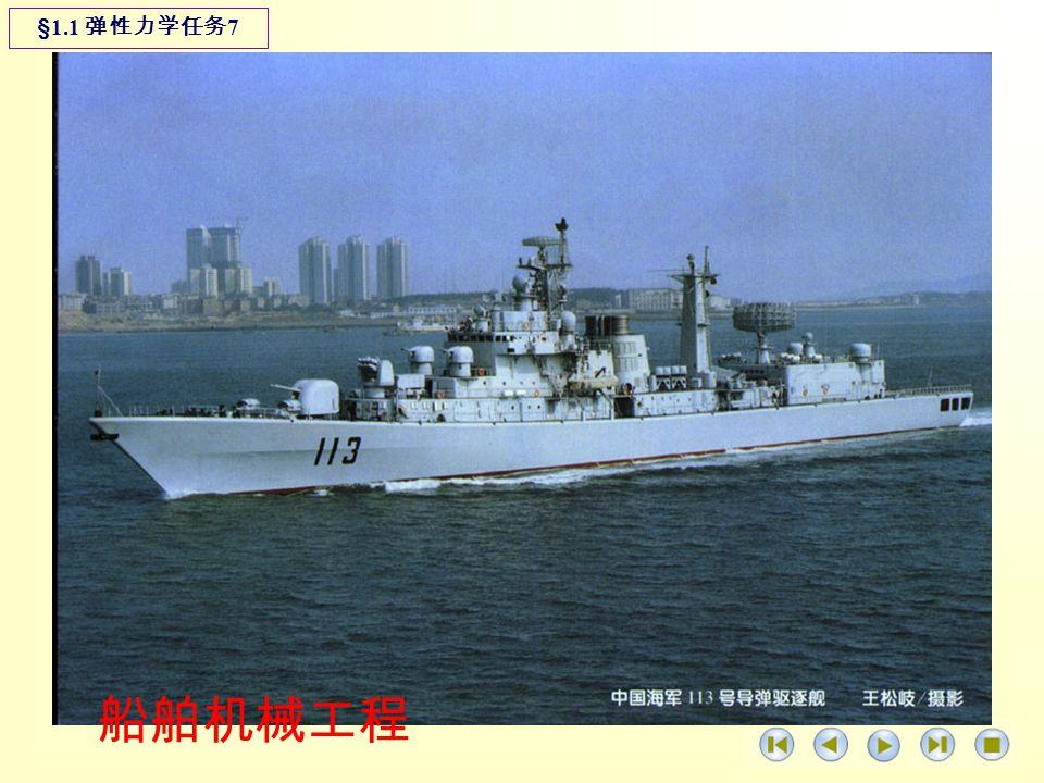 船舶机械工程 §1.1 弹性力学任务 7