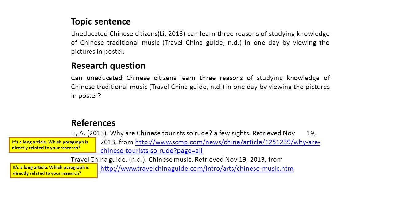 References Li, A. (2013). Why are Chinese tourists so rude.