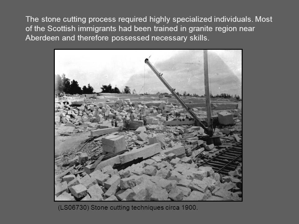(LS06730) Stone cutting techniques circa 1900.