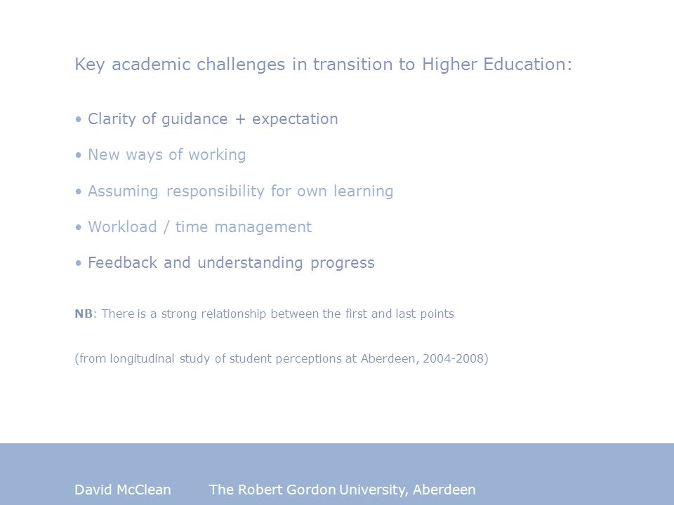 David McCleanThe Robert Gordon University, Aberdeen What is fundamental purpose of learning.