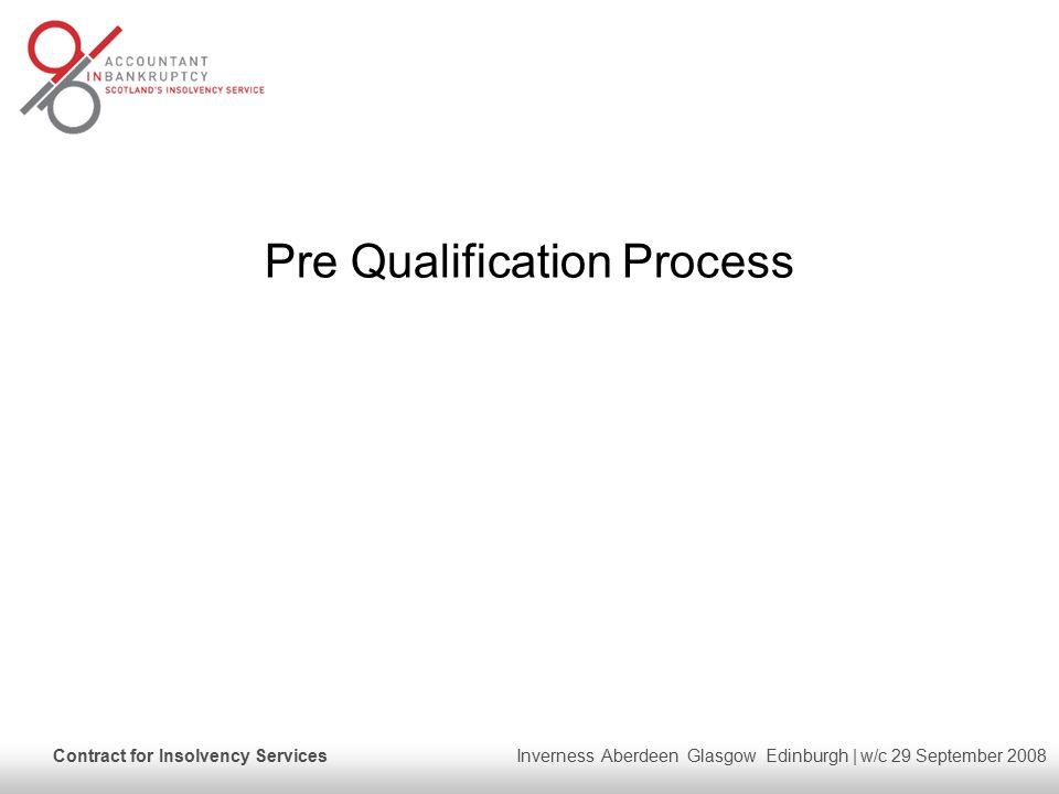 Pre Qualification Process