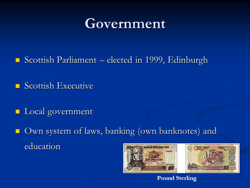 Government Scottish Parliament – elected in 1999, Edinburgh Scottish Parliament – elected in 1999, Edinburgh Scottish Executive Scottish Executive Loc