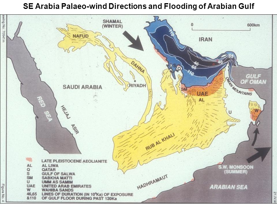 SE Arabia Palaeo-wind Directions and Flooding of Arabian Gulf