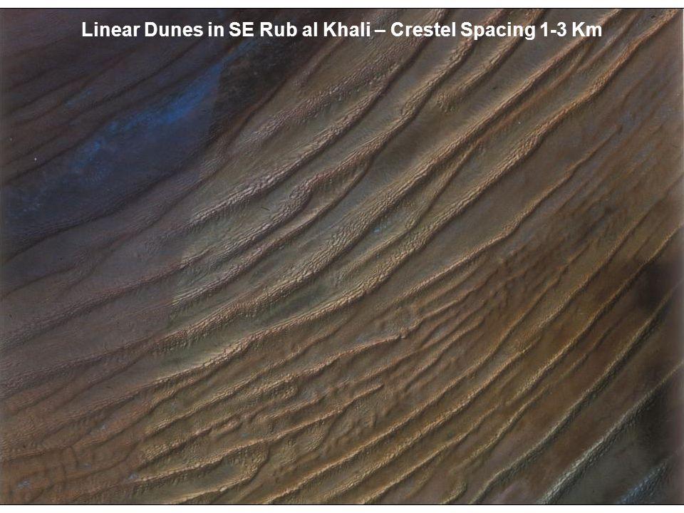 Linear Dunes in SE Rub al Khali – Crestel Spacing 1-3 Km