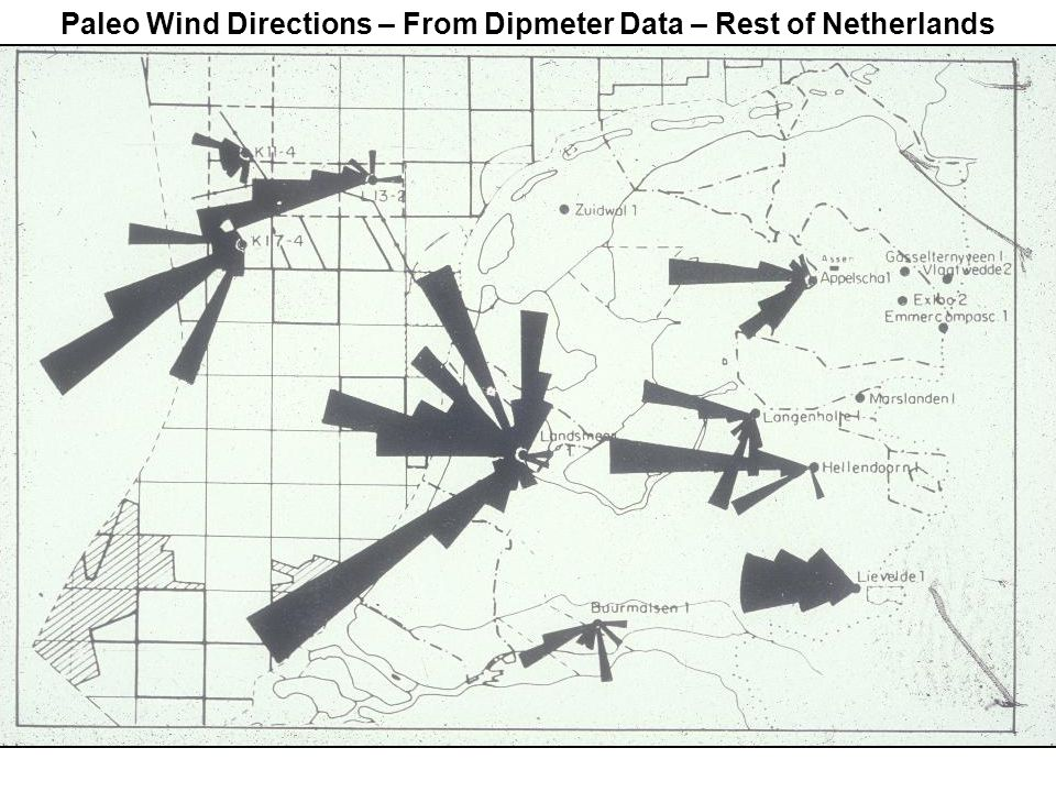 Paleo Wind Directions – From Dipmeter Data – Rest of Netherlands
