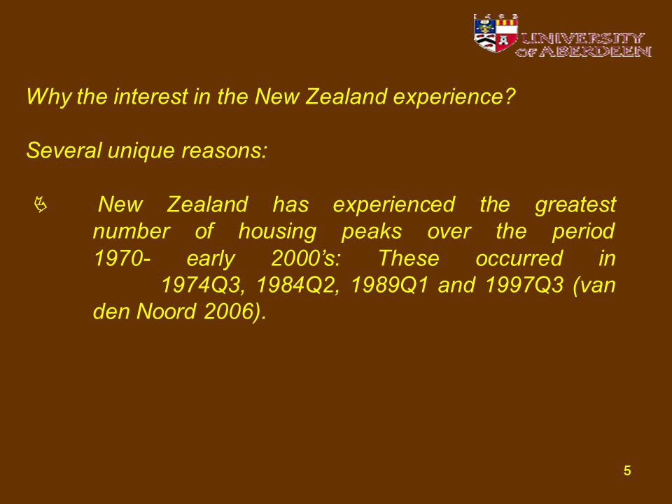 5 Why the interest in the New Zealand experience.