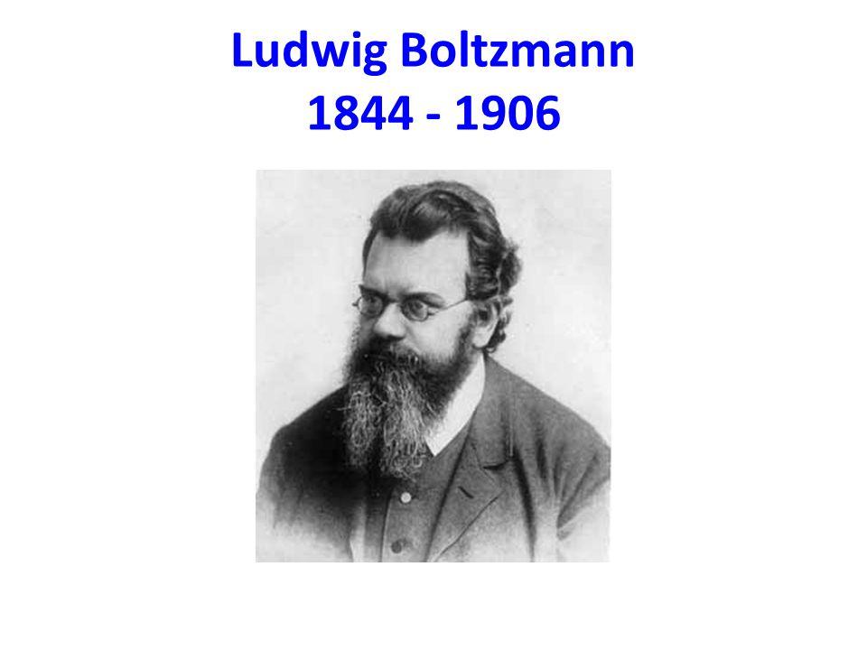 Ludwig Boltzmann 1844 - 1906