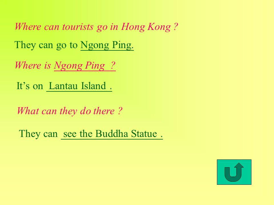 Where can tourists go in Hong Kong . They can go to Ngong Ping.