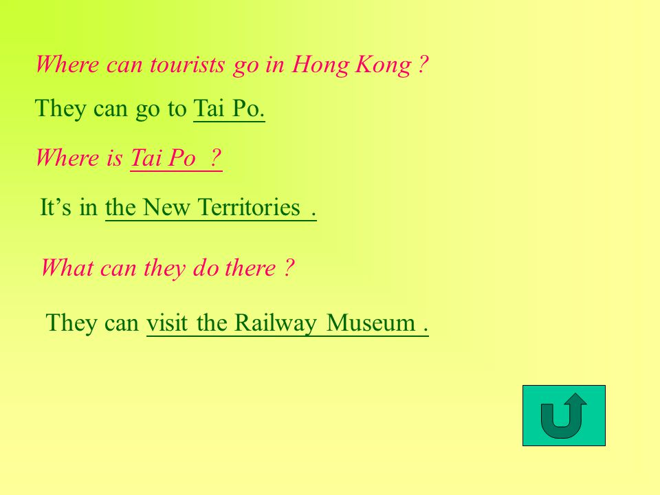 Where can tourists go in Hong Kong . They can go to Tai Po.