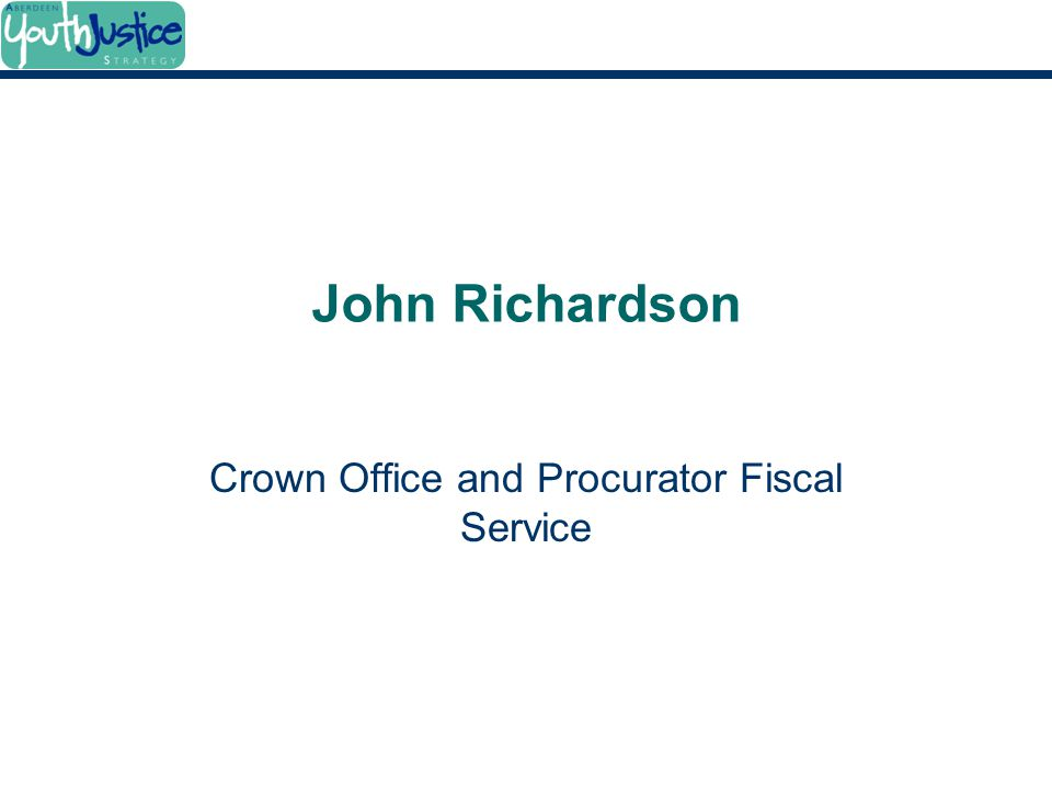 John Richardson Crown Office and Procurator Fiscal Service