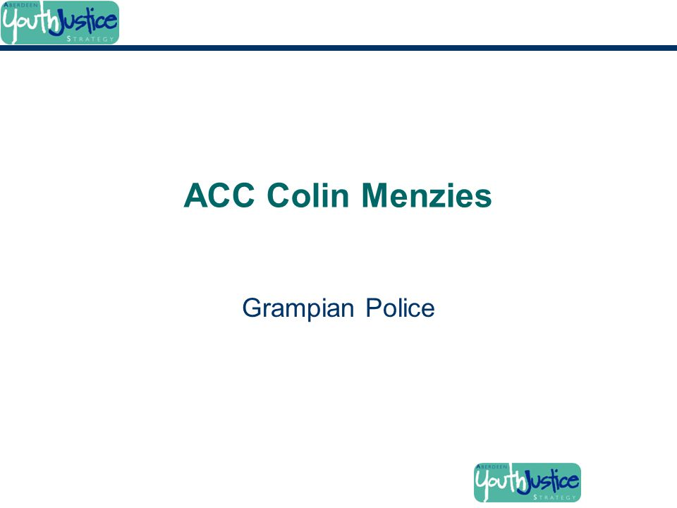 ACC Colin Menzies Grampian Police