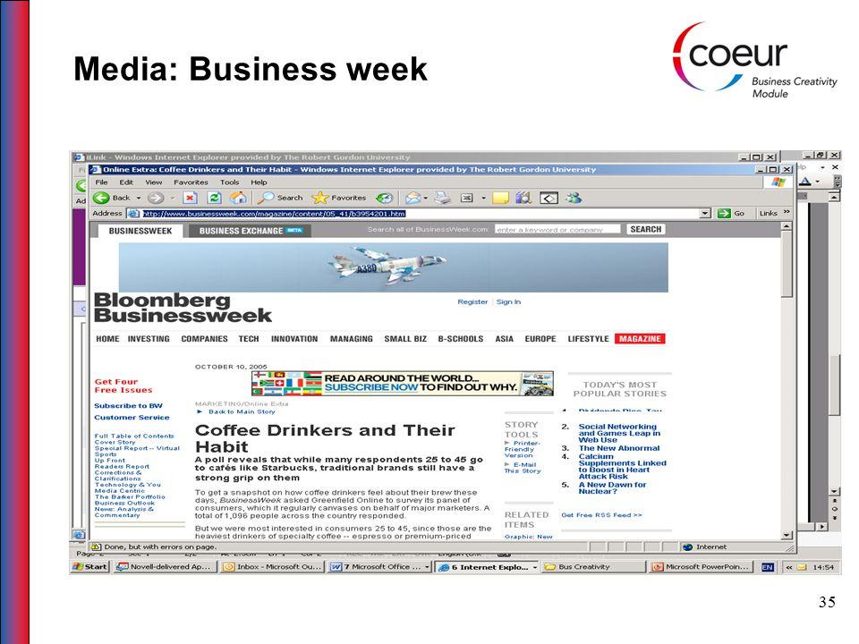 35 Media: Business week