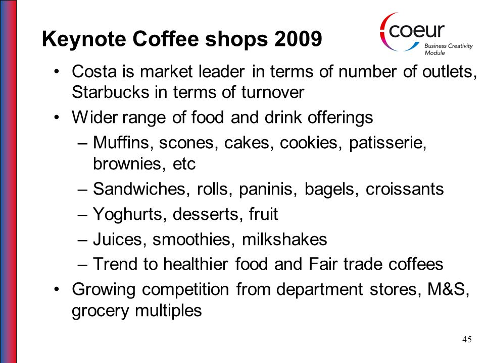 46 Case study on coffee shop http://brandandmarket.blogspot.com/2007/ 06/perk-up-coffee-shop-marketing.htmhttp://brandandmarket.blogspot.com/2007/ 06/perk-up-coffee-shop-marketing.htm http://www.benjaminwarsinske.com/2010/0 6/case-study-coffee-shop-in-seattle/http://www.benjaminwarsinske.com/2010/0 6/case-study-coffee-shop-in-seattle/ http://www.baristaexchange.com/forum/top ics/planning-on-opening-a-shophttp://www.baristaexchange.com/forum/top ics/planning-on-opening-a-shop
