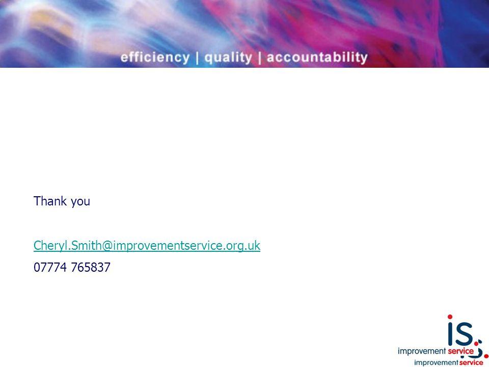 Thank you Cheryl.Smith@improvementservice.org.uk 07774 765837