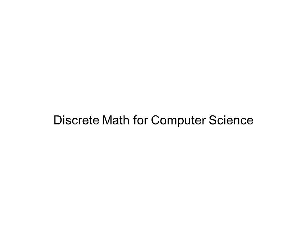Discrete Math for Computer Science