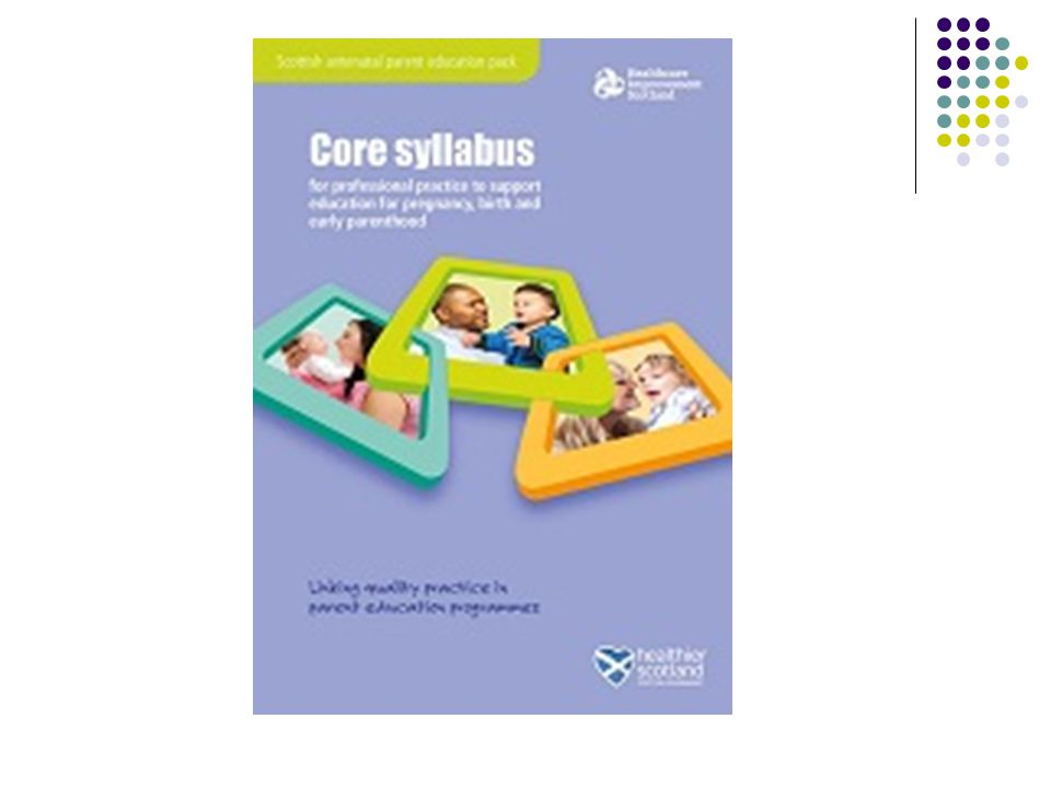 Context National Early Years Task Force Pre-birth to 3 Scottish Antenatal Parent Education Pack (core syllabus and resources) Locally NHS Grampian Maternity Strategy 2010-2015 Aberdeenshire - EL&L Service Plan Aberdeen City - change fund money – attachment focus