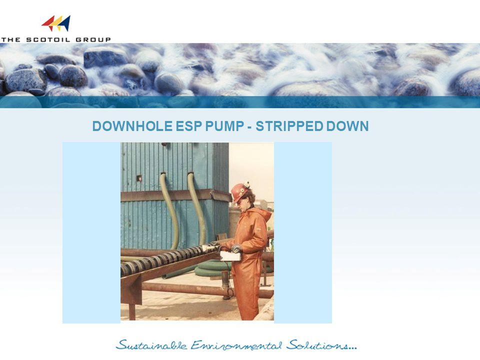 DOWNHOLE ESP PUMP - STRIPPED DOWN