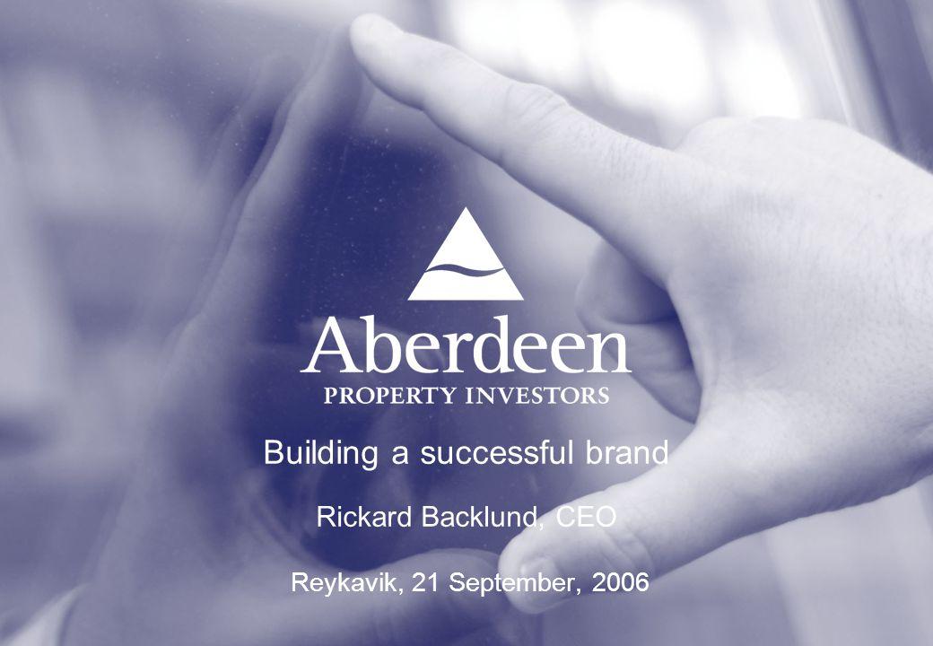 Building a successful brand Rickard Backlund, CEO Reykavik, 21 September, 2006
