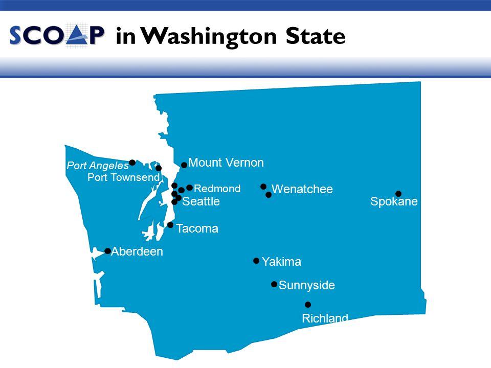 Seattle Redmond Spokane Yakima Wenatchee Richland Port Townsend Sunnyside Aberdeen Tacoma in Washington State Port Angeles Mount Vernon