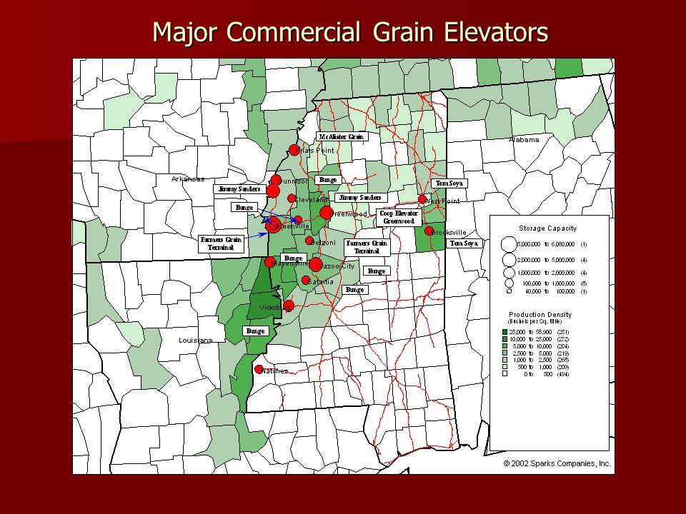 Major Commercial Grain Elevators