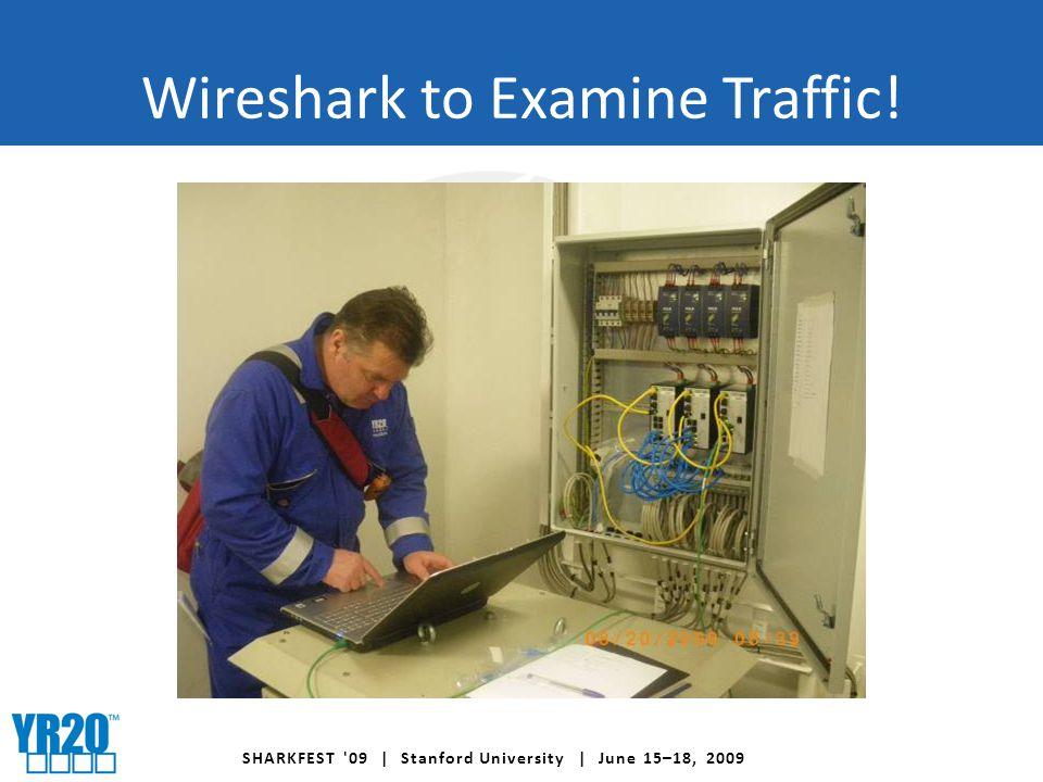 SHARKFEST 09 | Stanford University | June 15–18, 2009 Wireshark to Examine Traffic!