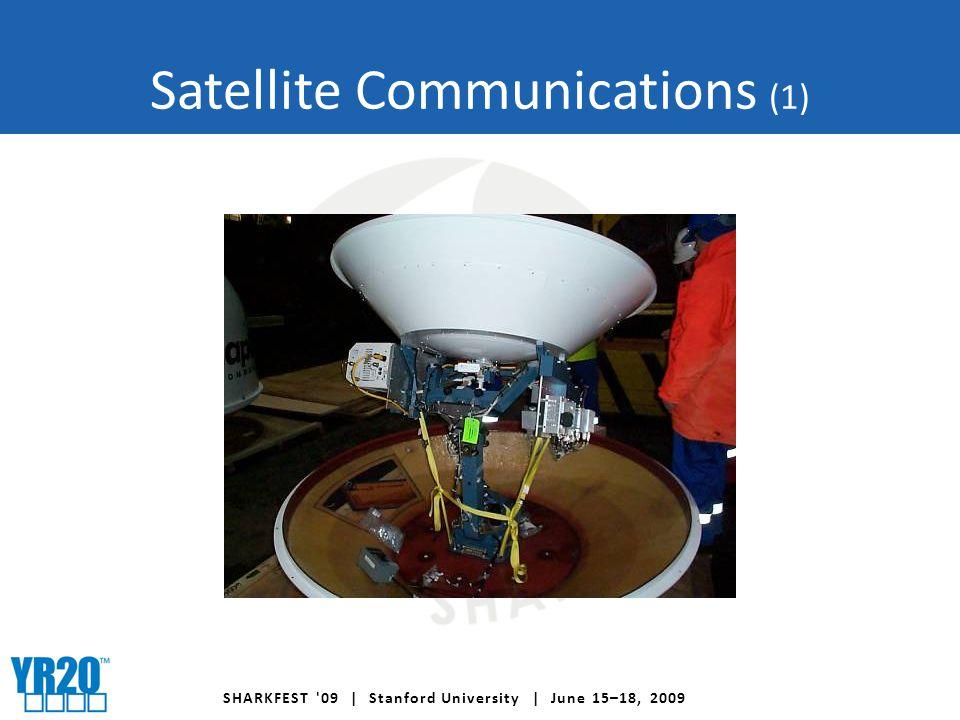 SHARKFEST 09 | Stanford University | June 15–18, 2009 Satellite Communications (1)