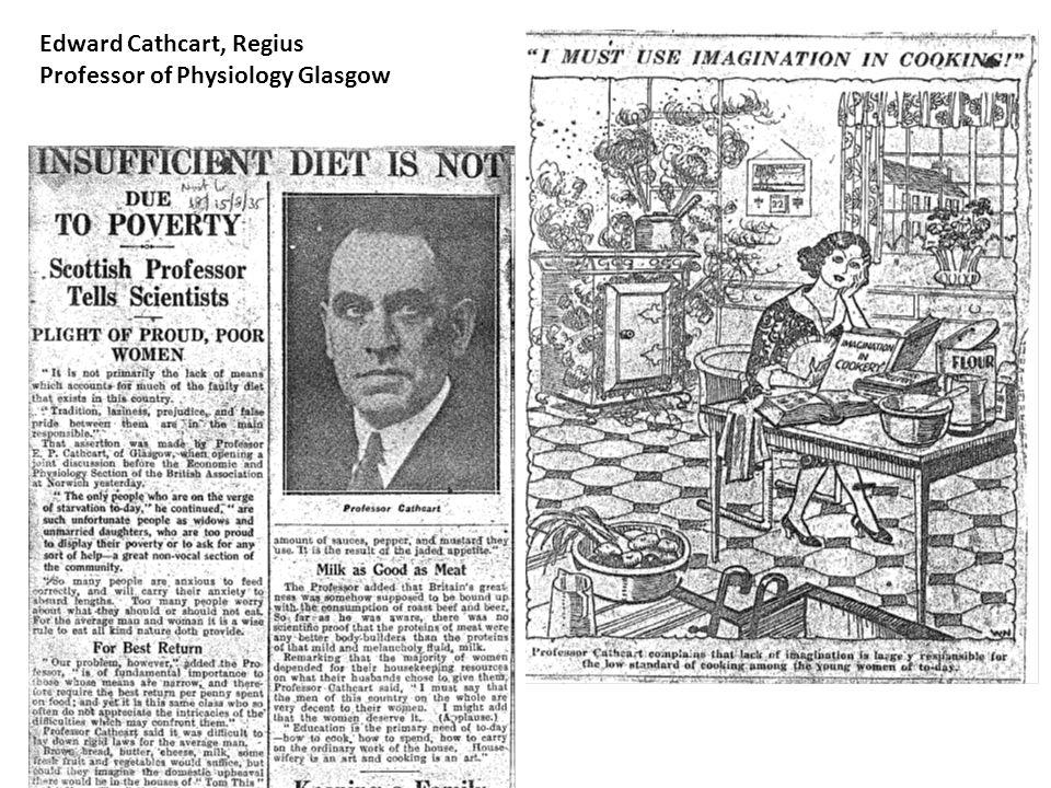 Edward Cathcart, Regius Professor of Physiology Glasgow