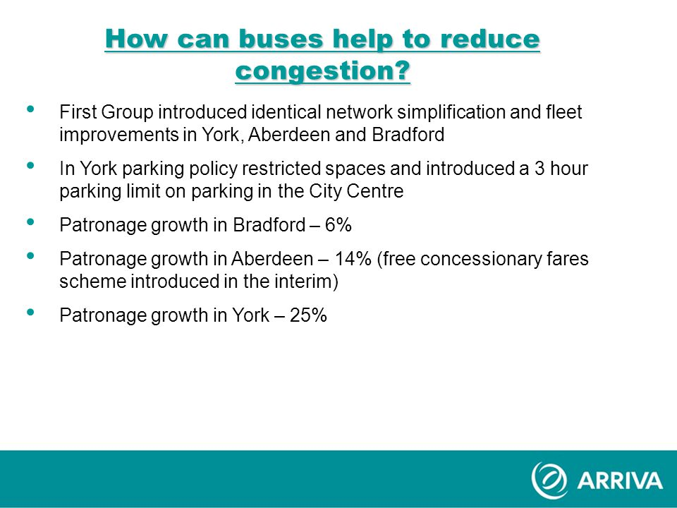 How can buses help to reduce congestion.