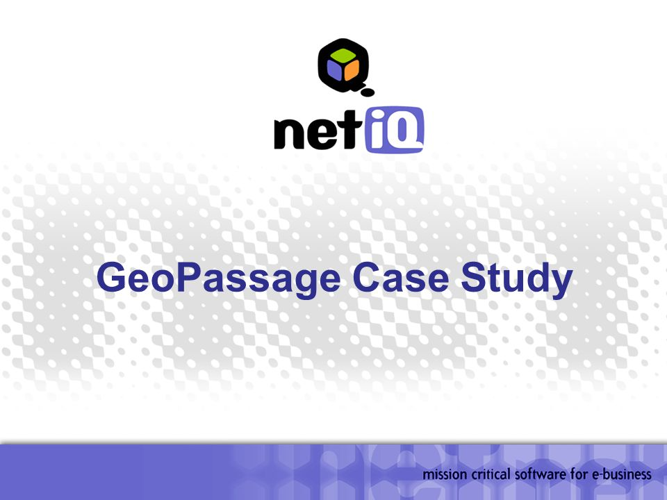 GeoPassage Case Study