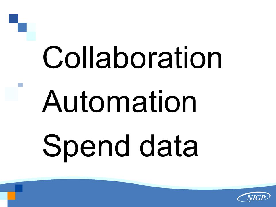 Collaboration Automation Spend data