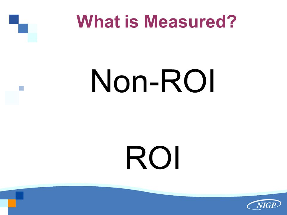 What is Measured Non-ROI ROI