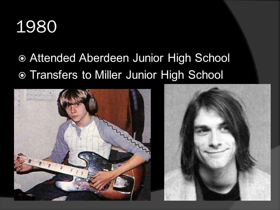 1980  Attended Aberdeen Junior High School  Transfers to Miller Junior High School