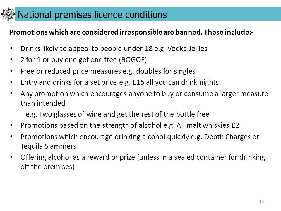 15 Drinks likely to appeal to people under 18 e.g.